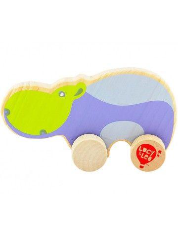 Каталка Бегемот - обучающие деревянные игрушки Lucy&Leo Lucy&Leo - 1