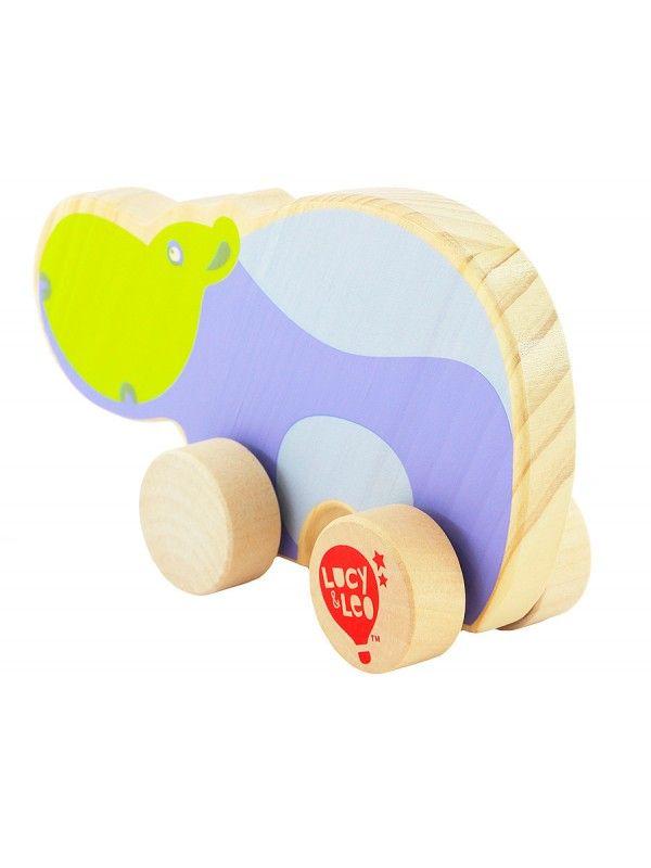 Каталка Бегемот - обучающие деревянные игрушки Lucy&Leo Lucy&Leo - 3