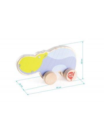 Каталка Бегемот - обучающие деревянные игрушки Lucy&Leo Lucy&Leo - 2