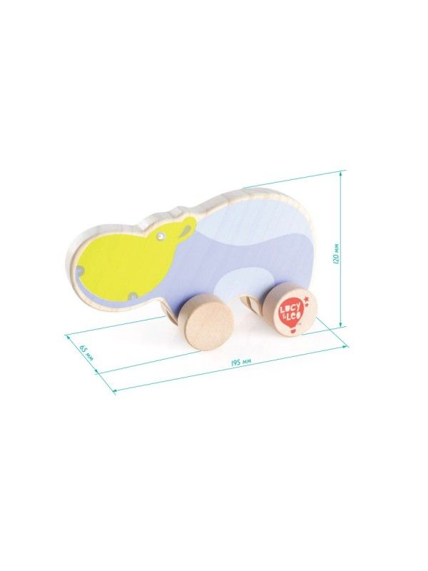 Rolling Hippo - educational wood toys Lucy&Leo Lucy&Leo - 2