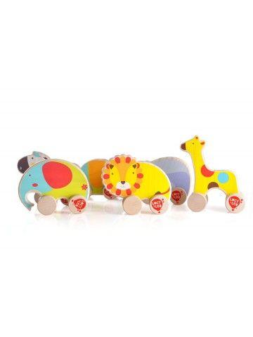 Каталка Бегемот - обучающие деревянные игрушки Lucy&Leo Lucy&Leo - 5