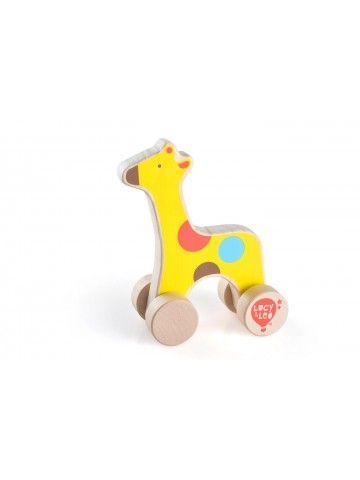 Velkamā rotaļlieta Žirafe - Attīstošās koka rotaļlieta Lucy&Leo Lucy&Leo - 1