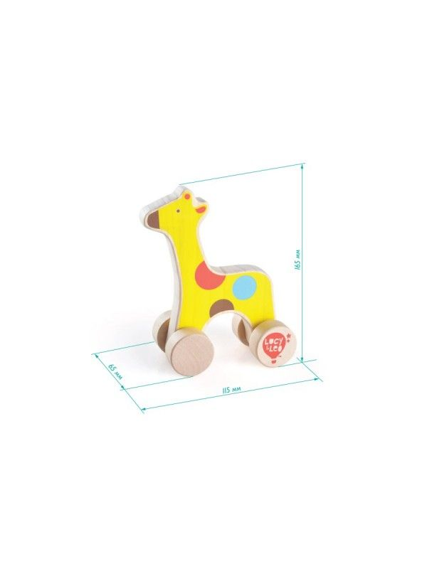 Rolling Giraffe - educational wood toys Lucy&Leo Lucy&Leo - 2