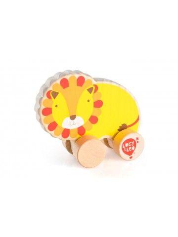 Каталка Лев - обучающие деревянные игрушки Lucy&Leo Lucy&Leo - 1