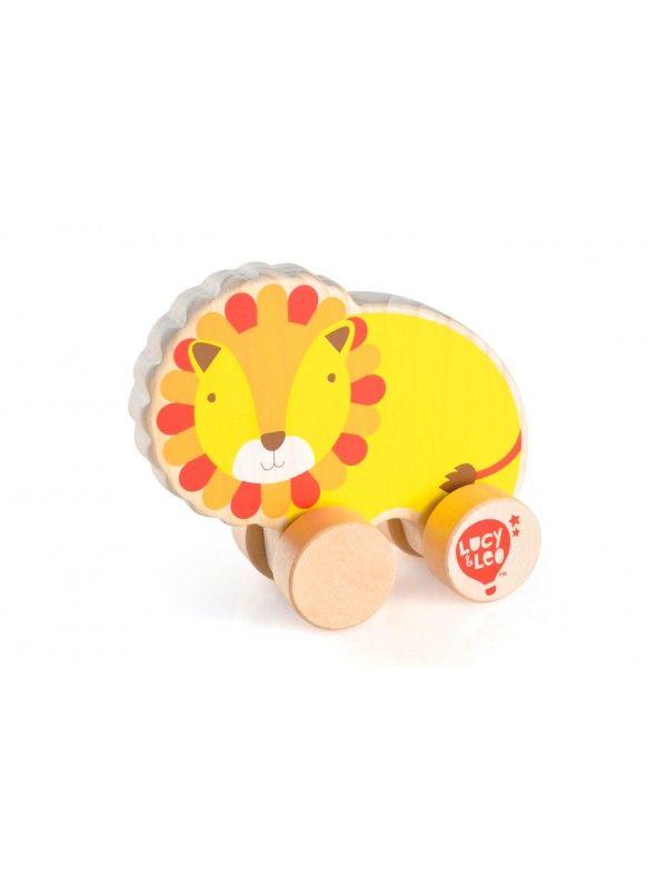 Velkamā rotaļlieta Lauva - Attīstošās koka rotaļlieta Lucy&Leo Lucy&Leo - 1