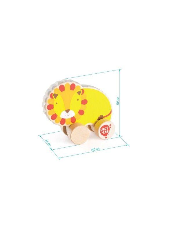Velkamā rotaļlieta Lauva - Attīstošās koka rotaļlieta Lucy&Leo Lucy&Leo - 2