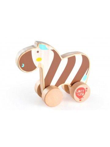 Каталка Зебра - обучающие деревянные игрушки Lucy&Leo Lucy&Leo - 1