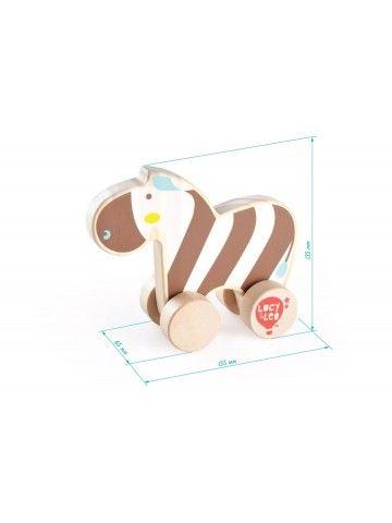 Каталка Зебра - обучающие деревянные игрушки Lucy&Leo Lucy&Leo - 2