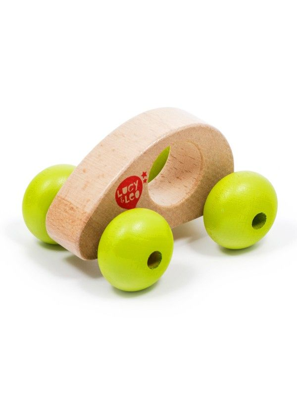 Roly-Poly mini car wooden toy Lucy&Leo - 1