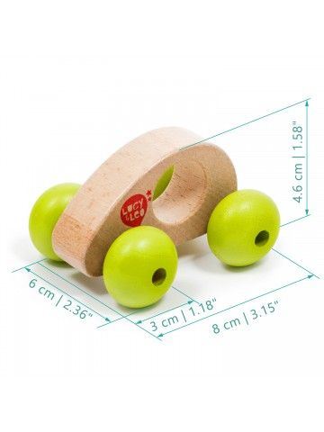 Roly-Poly mini car wooden toy Lucy&Leo - 2
