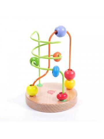 Лабиринт с бусинками Nr.1 - обучающие деревянные игрушки Lucy&Leo Lucy&Leo - 1