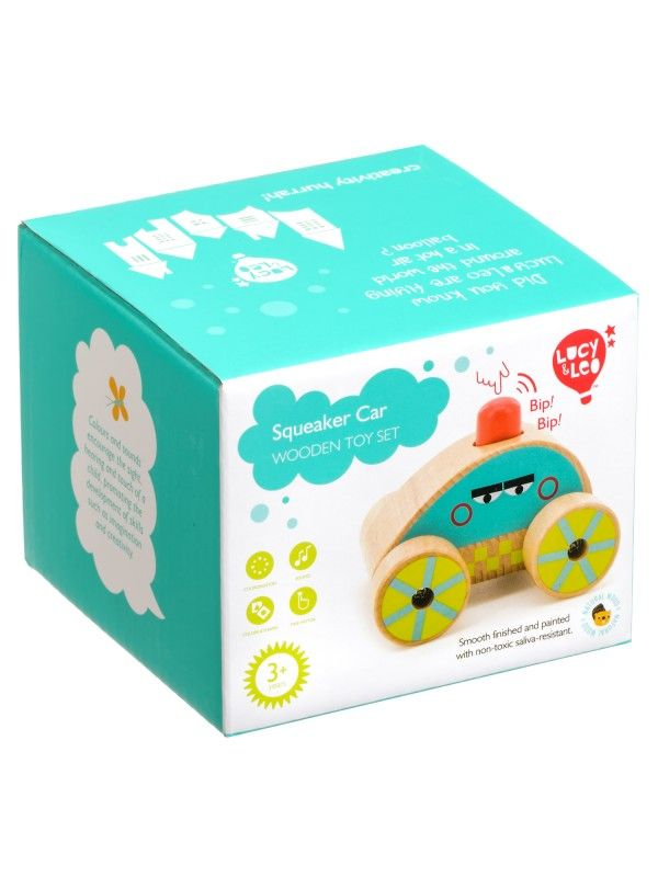 Машинка-пищалка - обучающие деревянные игрушки Lucy&Leo Lucy&Leo - 6