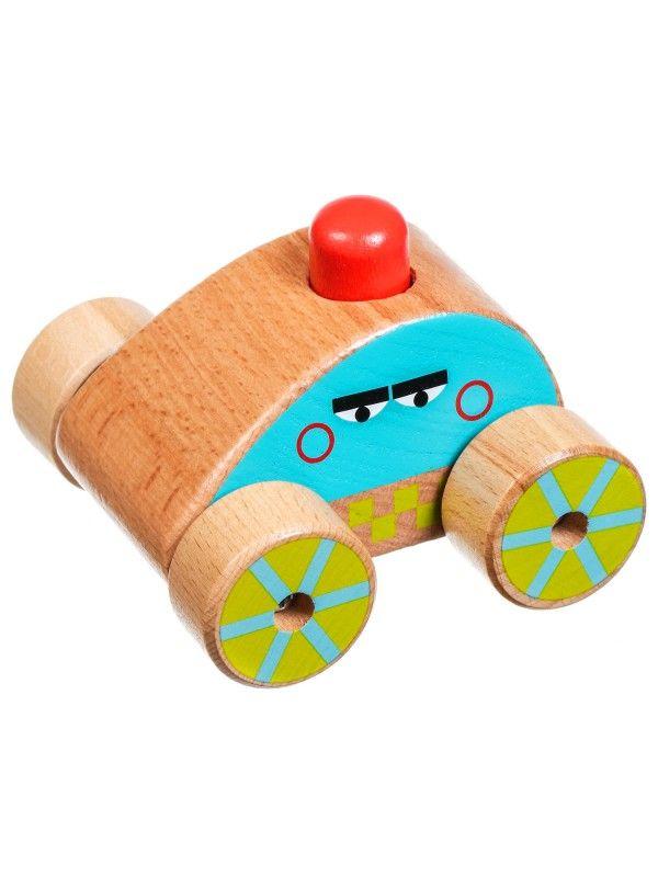 Mašīna – pīkstulis - Attīstošās koka rotaļlieta Lucy&Leo - 1