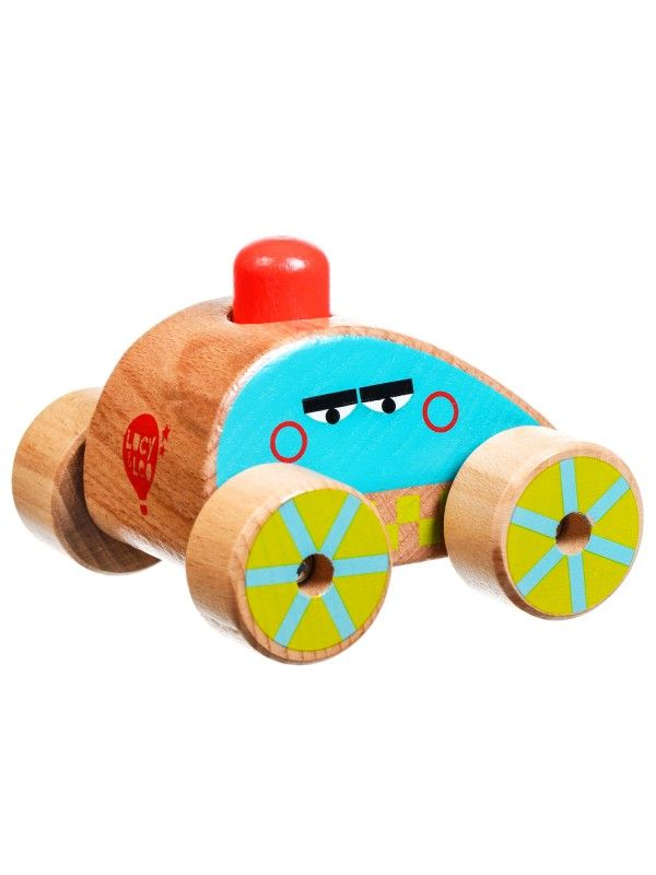 Mašīna – pīkstulis - Attīstošās koka rotaļlieta Lucy&Leo - 3