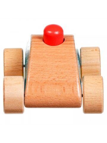 Машинка-пищалка - обучающие деревянные игрушки Lucy&Leo Lucy&Leo - 4