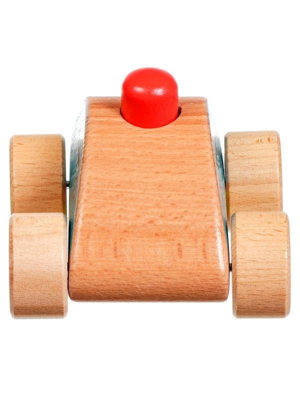 Mašīna – pīkstulis - Attīstošās koka rotaļlieta Lucy&Leo - 4