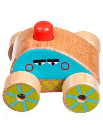 Машинка-пищалка - обучающие деревянные игрушки Lucy&Leo Lucy&Leo - 5